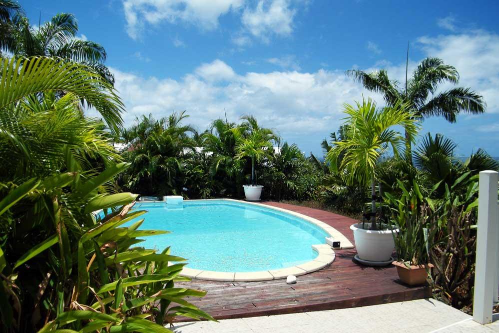 location villa vue mer guadeloupe piscine 6 personnes deshaies. Black Bedroom Furniture Sets. Home Design Ideas