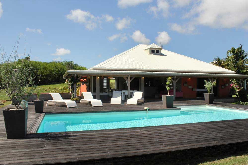 Location villa luxe guadeloupe 8 personnes sainte anne spa for Location maison luxe week end