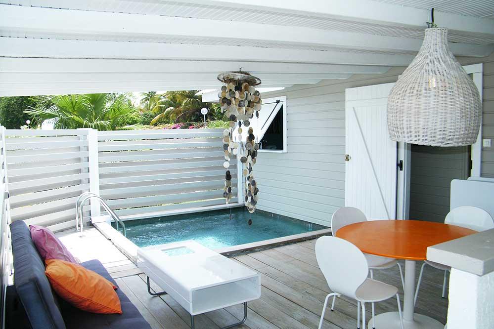 Location bungalow guadeloupe bungalow 4 personnes avec - Bungalow guadeloupe piscine privee ...