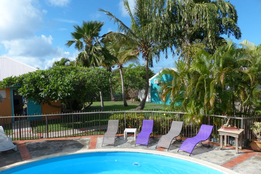 Location guadeloupe bungalow de charme 200m de la mer - Bungalow guadeloupe piscine privee ...